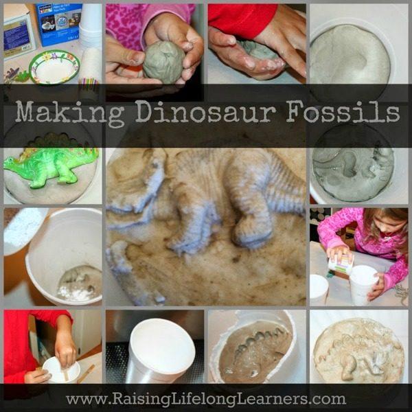 Making Dinosaur Fossils via www.RaisingLifelongLearners.com