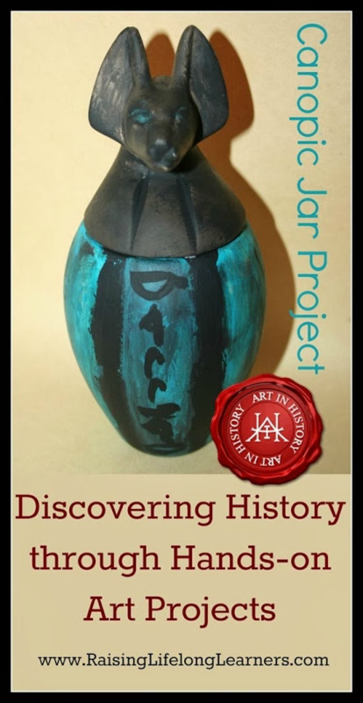 Discovering History through Hands-on Art Projects via www.RaisingLifelongLearners.com