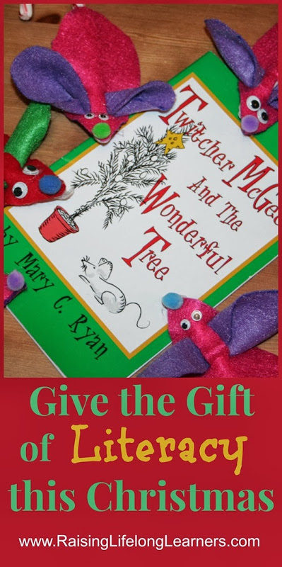 The Gift of Literacy with Felt Christmas Mice