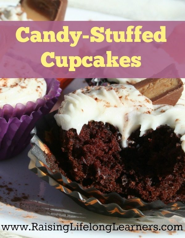 Candy Stuffed Cupcakes