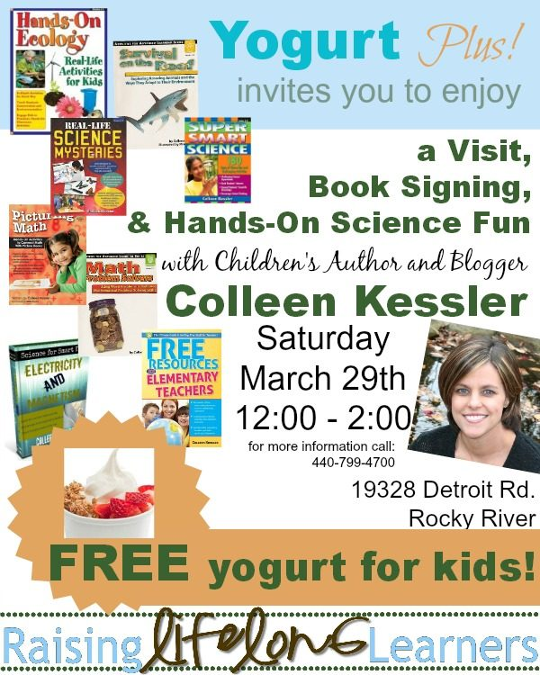 Author Visit and Hands-On Science Event on Saturday
