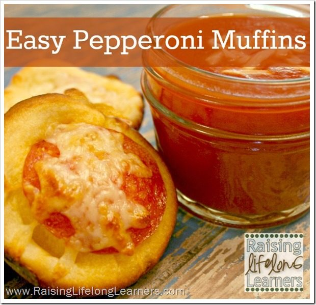Easy Pepperoni Muffins via www.RaisingLifelongLearners.com