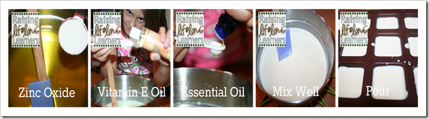 Making DIY Sunscreen Lotion Bars via www.RaisingLifelongLearners.com