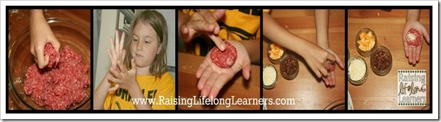 Making Up the Bacon Cheeseburger Bites via www.RaisingLifelongLearners.com