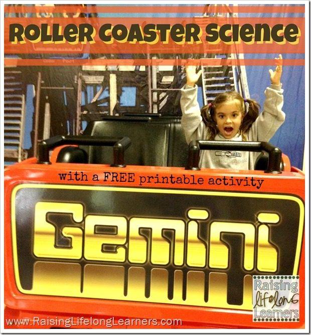 Roller Coaster Science via www.RaisingLifelongLearners.com