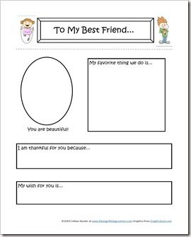 My Best Friend Printable via www.RaisingLifelongLearners.com