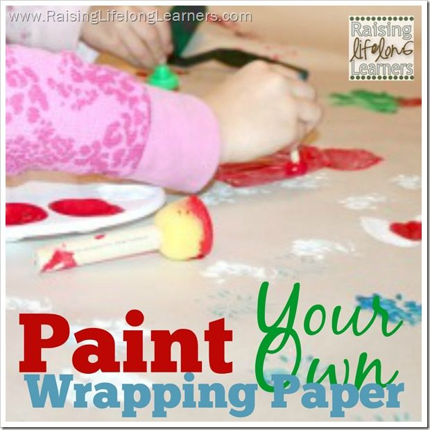 Paint Your Own Wrapping Paper