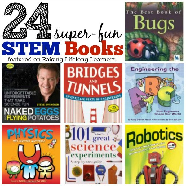 24 Super Fun STEM Books for Kids via www.RaisingLifelongLearners.com