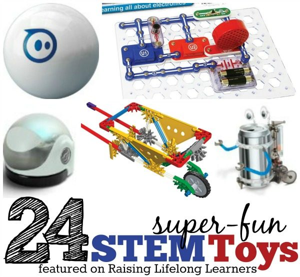24 Super Fun STEM Toys via www.RaisingLifelongLearners.com