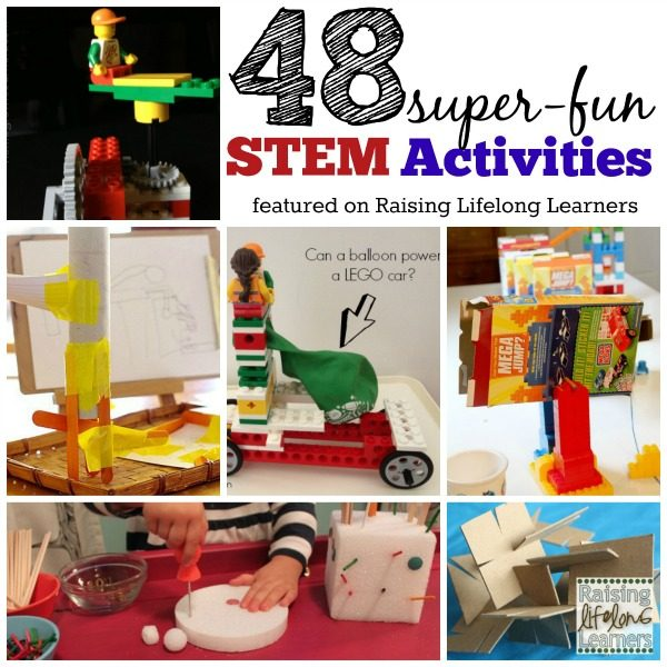 48 Super Fun STEM Activities for Kids via www.RaisingLifelongLearners.com