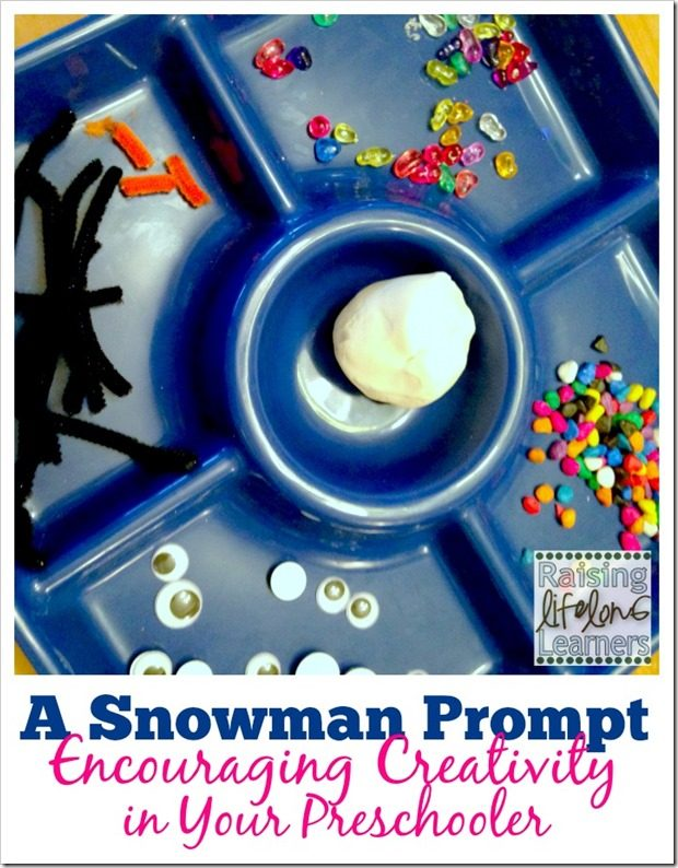 A Snowman Prompt Creativity for Preschoolers