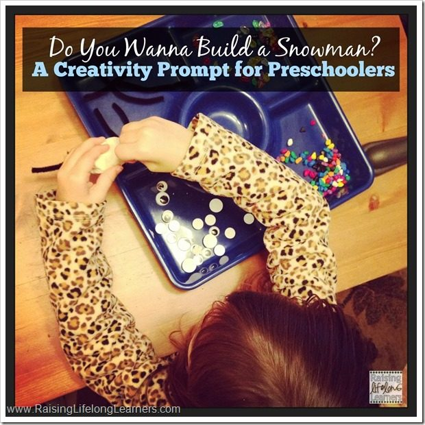 Building a Snowman Creativity Prompt for Preschoolers