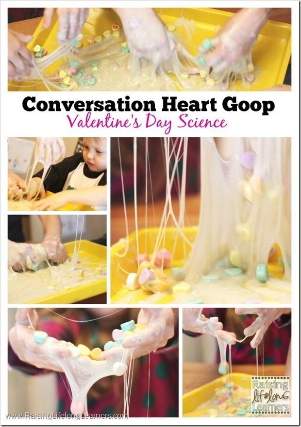 Conversation Heart Goop for Valentine's Day Science Fun