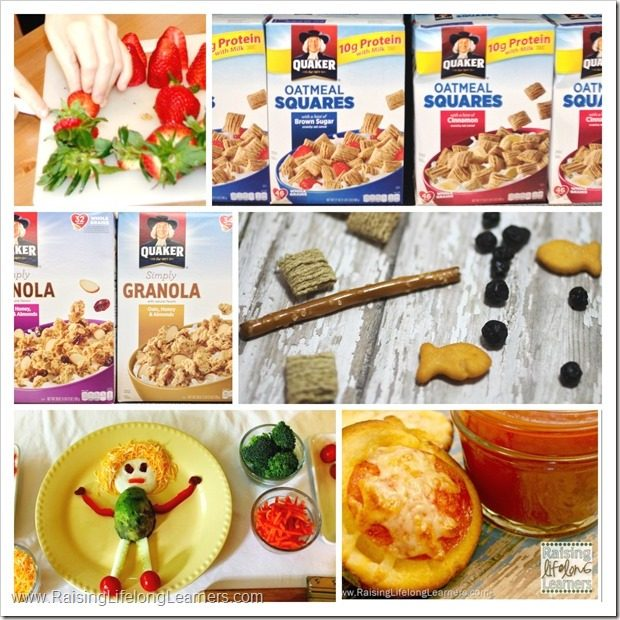 Creative Snacks for Kids with Quaker Cereals #LoveMyCereal #QuakerUp #spon