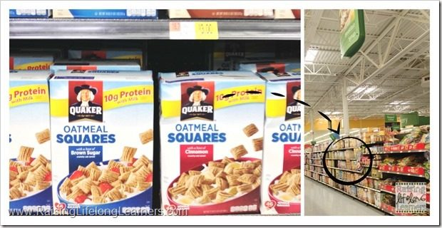 Easy Snack Ideas for Kids with Quaker Squares from Walmart #LoveMyCereal #QuakerUp #spon