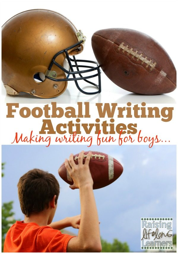 Football Writing Activities Great Writing Prompts for Boys