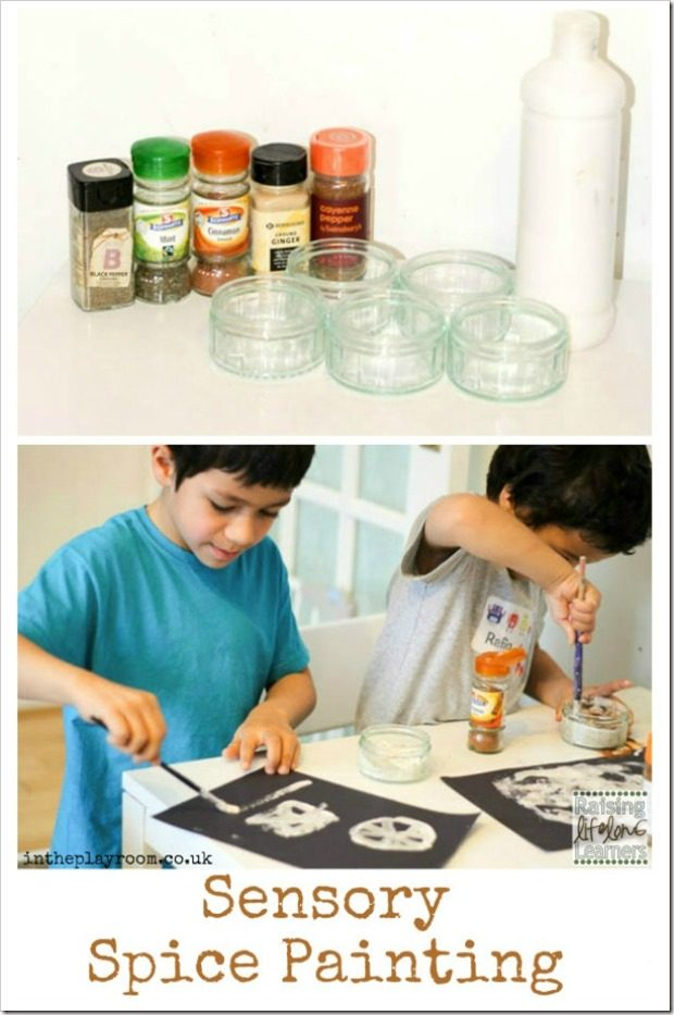 Sensory Play with Spice Paint