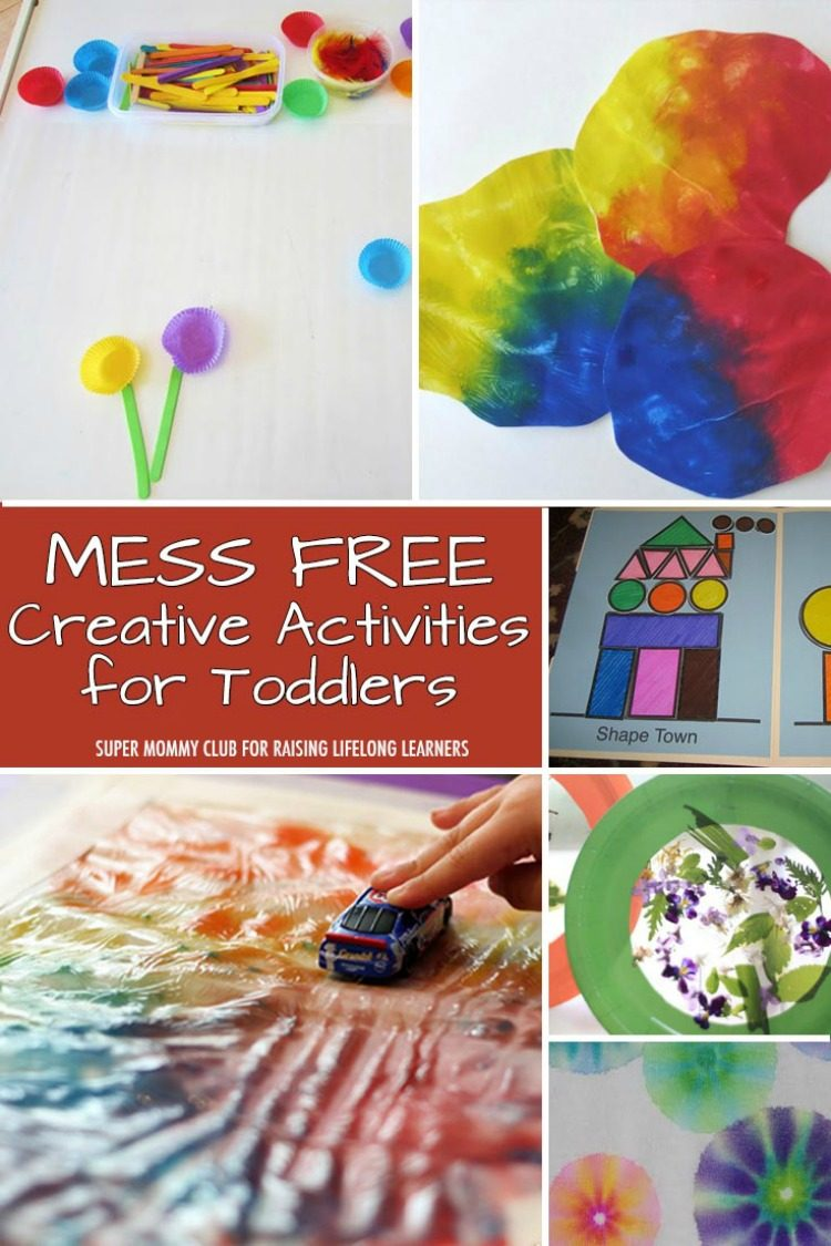 8 mess free creative activities for toddlers for Art and craft games