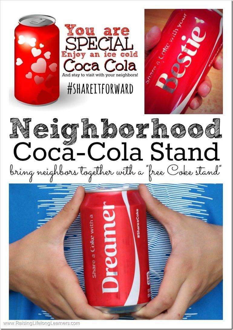 #Shareitforward free neighborhood coke stand - acts of kindness