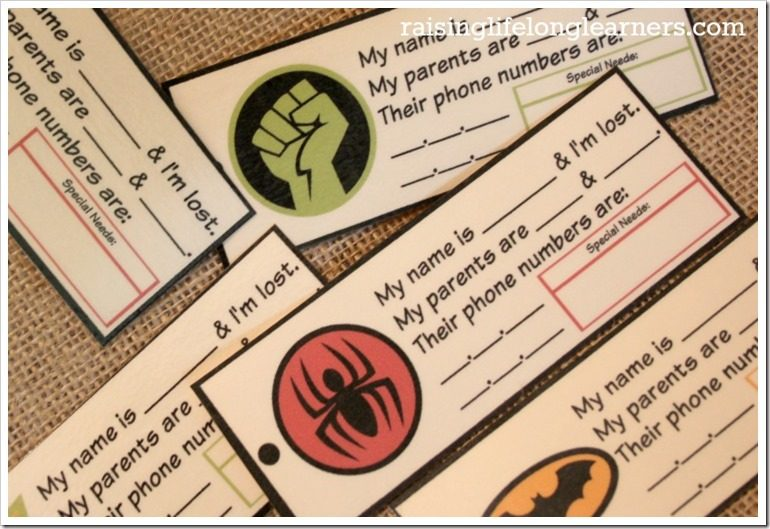 DIY Child Identification Tags