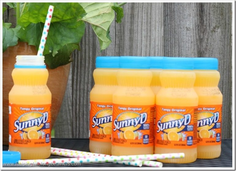 DIY Upcycled SunnyD Bottle Bowling Game Craft #WhereFunBegins #ad PIN