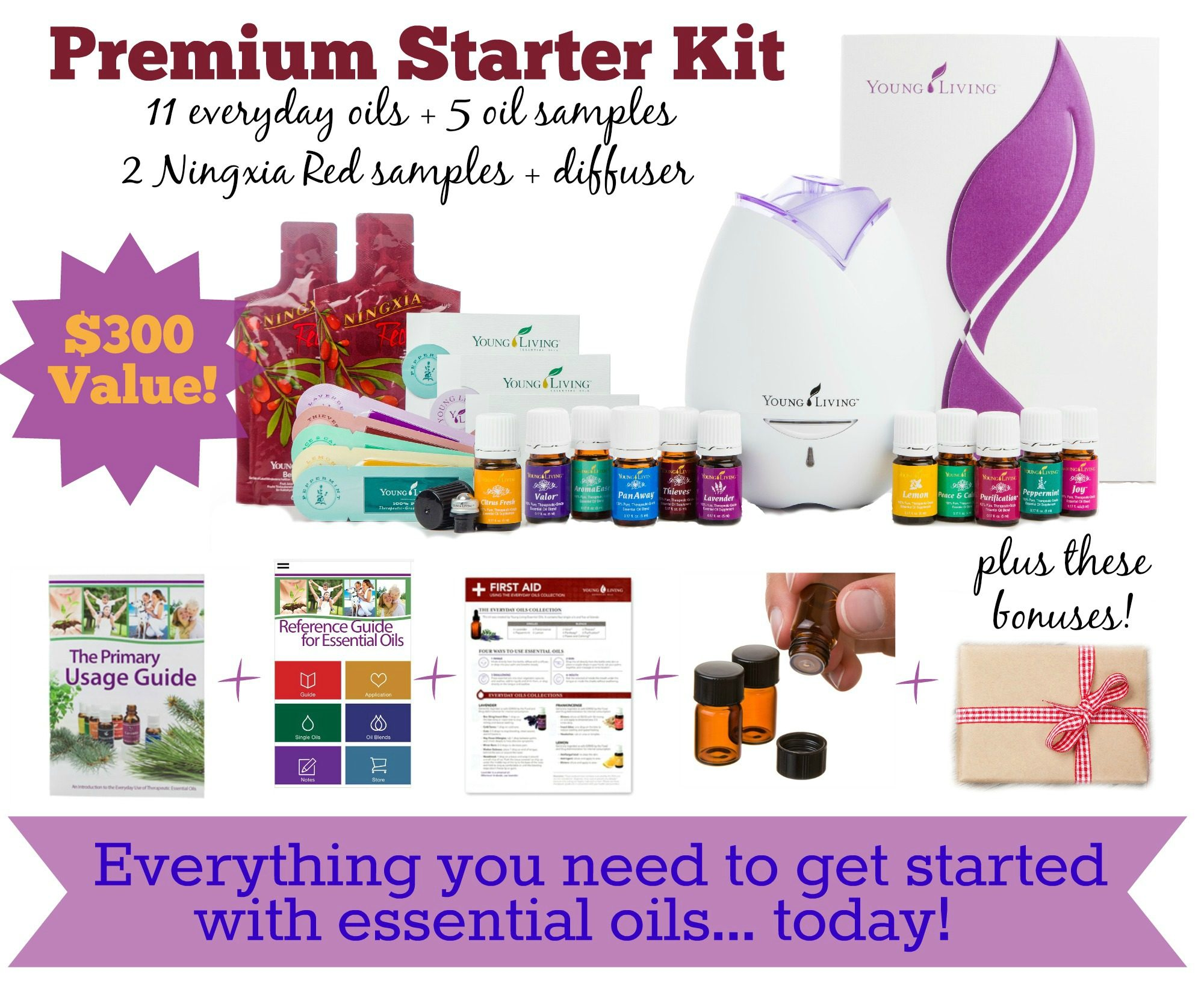 Young Living Premium Starter Kit and Bonuses