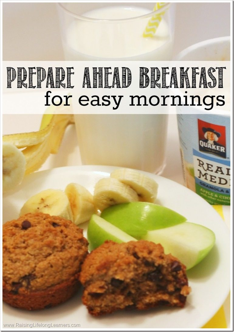 Prepare Ahead Breakfast for Easy Mornings #QuakerRealMedleys
