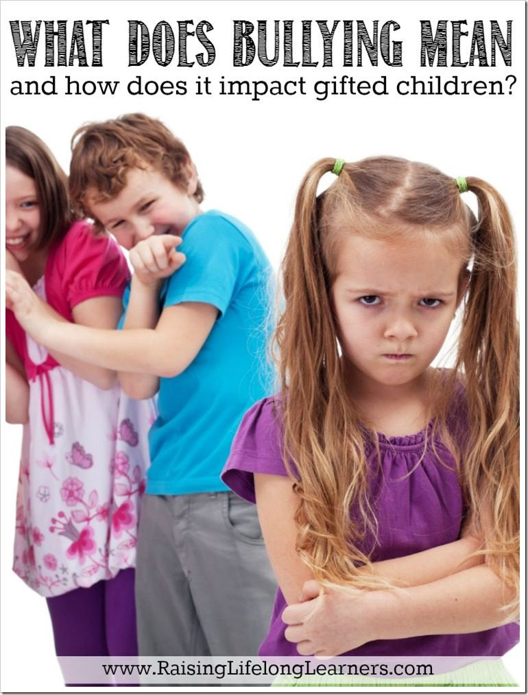 What Does Bullying Mean and How Does it Impact Gifted Children