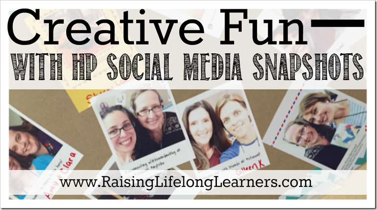 Creative Fun with HP Social Media Snapshots #StickaPic