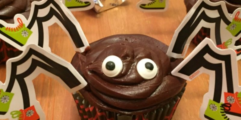 Spooky Spider Candy Stuffed Cupcakes