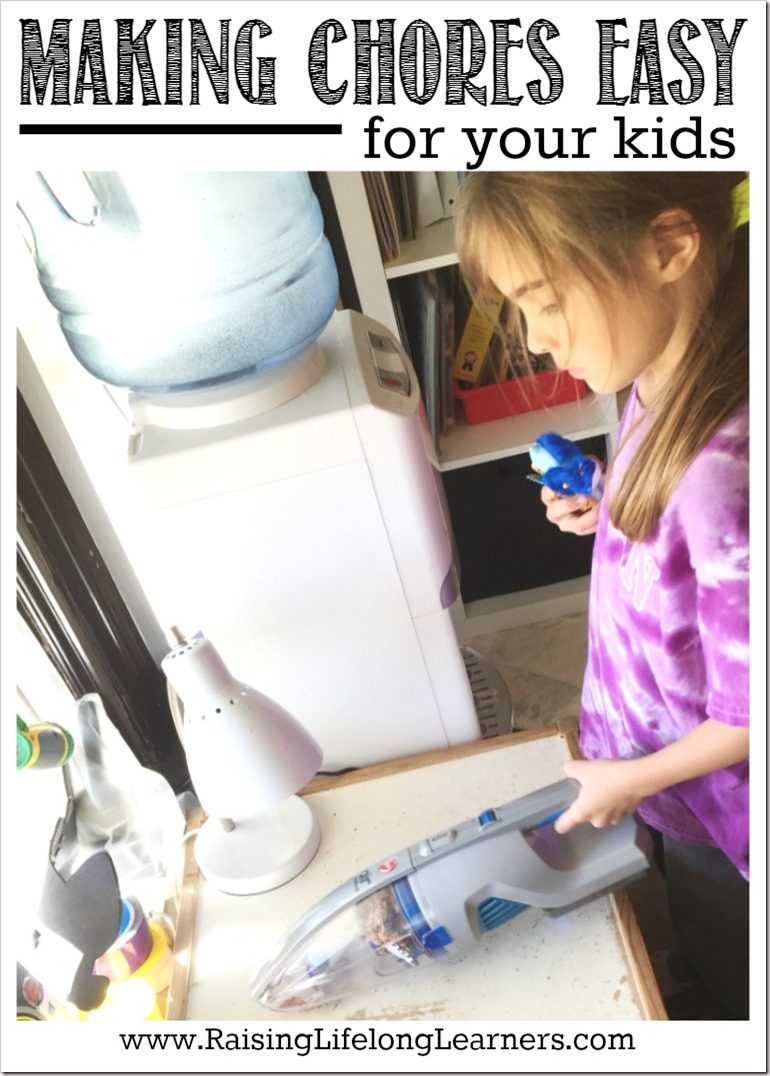 Making Chores Easy for Your Kids #NoCordNoBull #cg