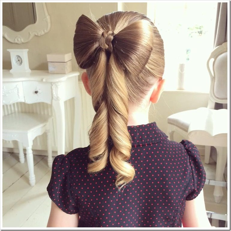 Strange 20 Easy Christmas Hairstyles For Little Girls Short Hairstyles Gunalazisus