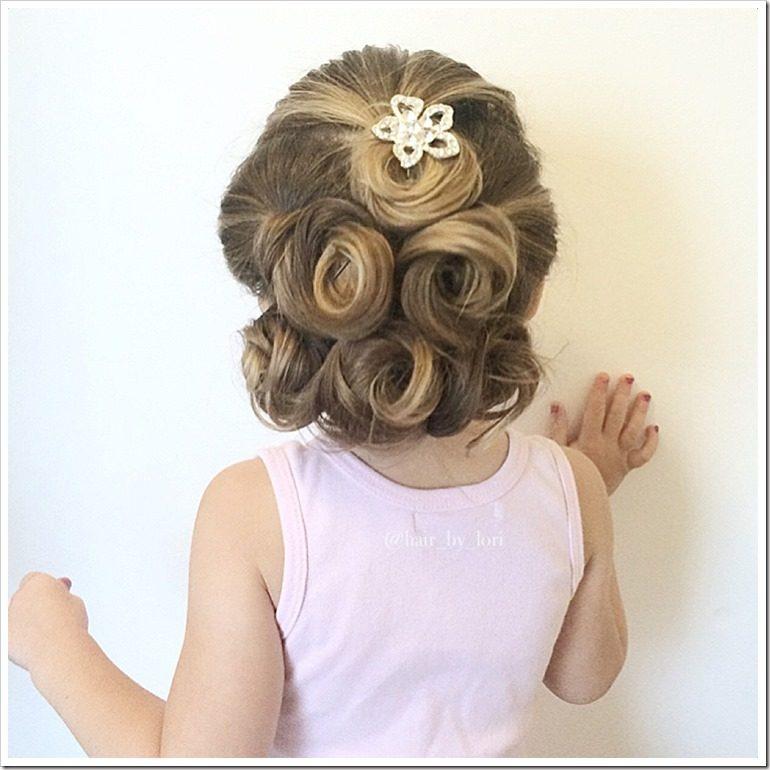Admirable 20 Easy Christmas Hairstyles For Little Girls Short Hairstyles Gunalazisus