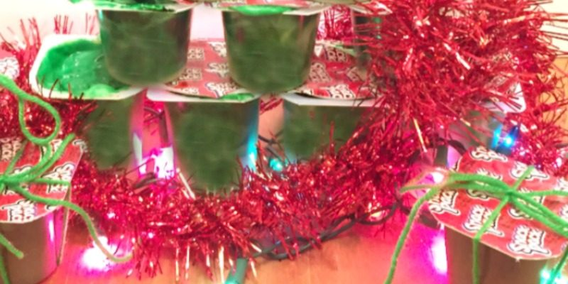 Christmas Tree Pudding Snack Station