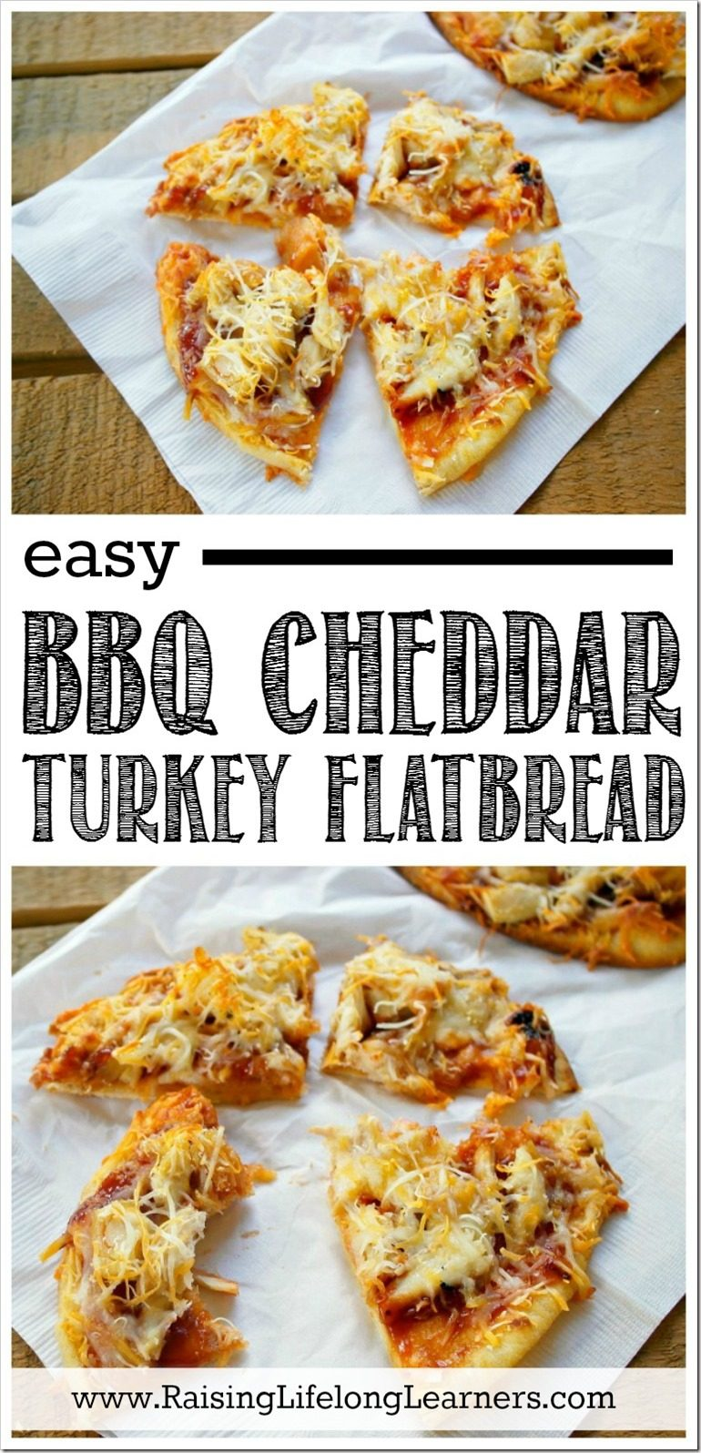 Easy BBQ Cheddar Turkey Flatbread Recipe