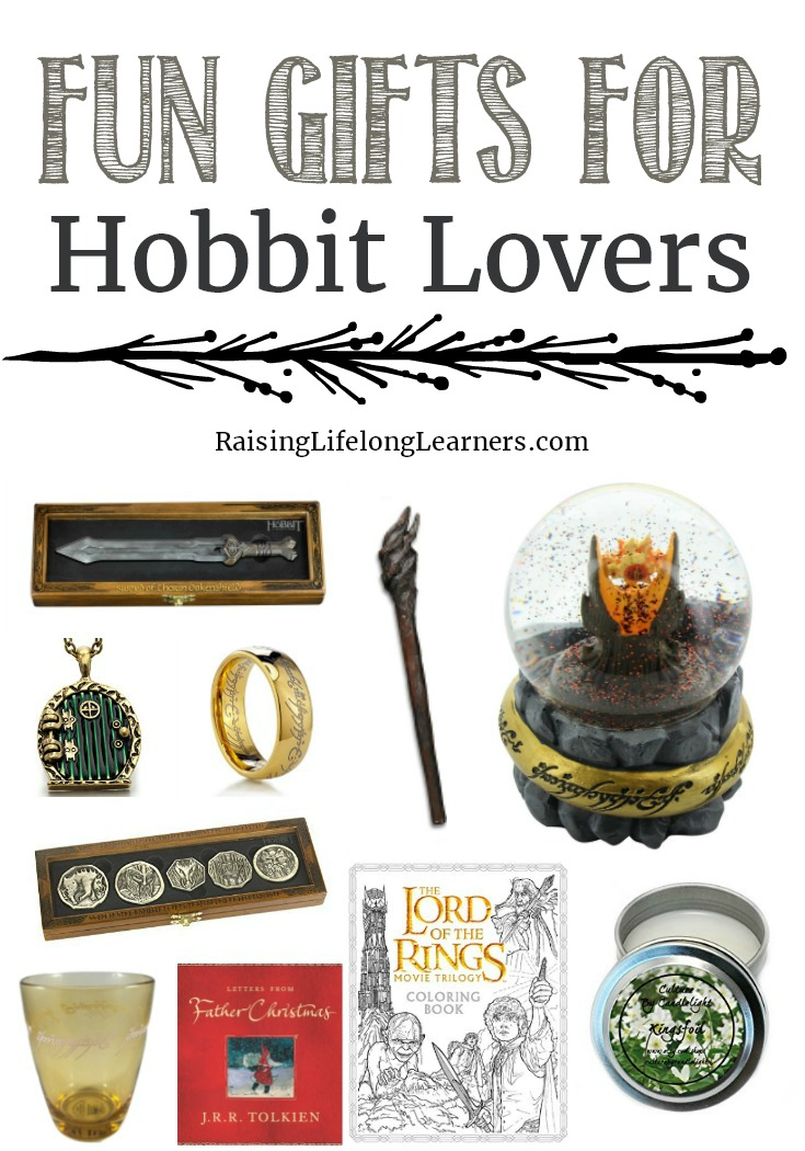 In honor of all of the Tolkien fans out there, I have gathered some fun gifts for Hobbit lovers. Check it out and tell me what I missed! #Hobbit #giftguide #Christmas
