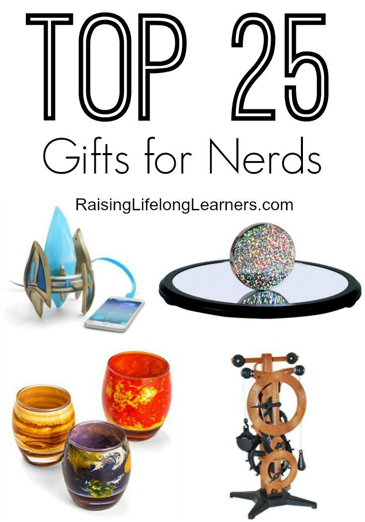 Are you shopping for a few nerdy family members? For the geek in yourself? Check out these 25 super cool gifts that will make your inner nerd grin...
