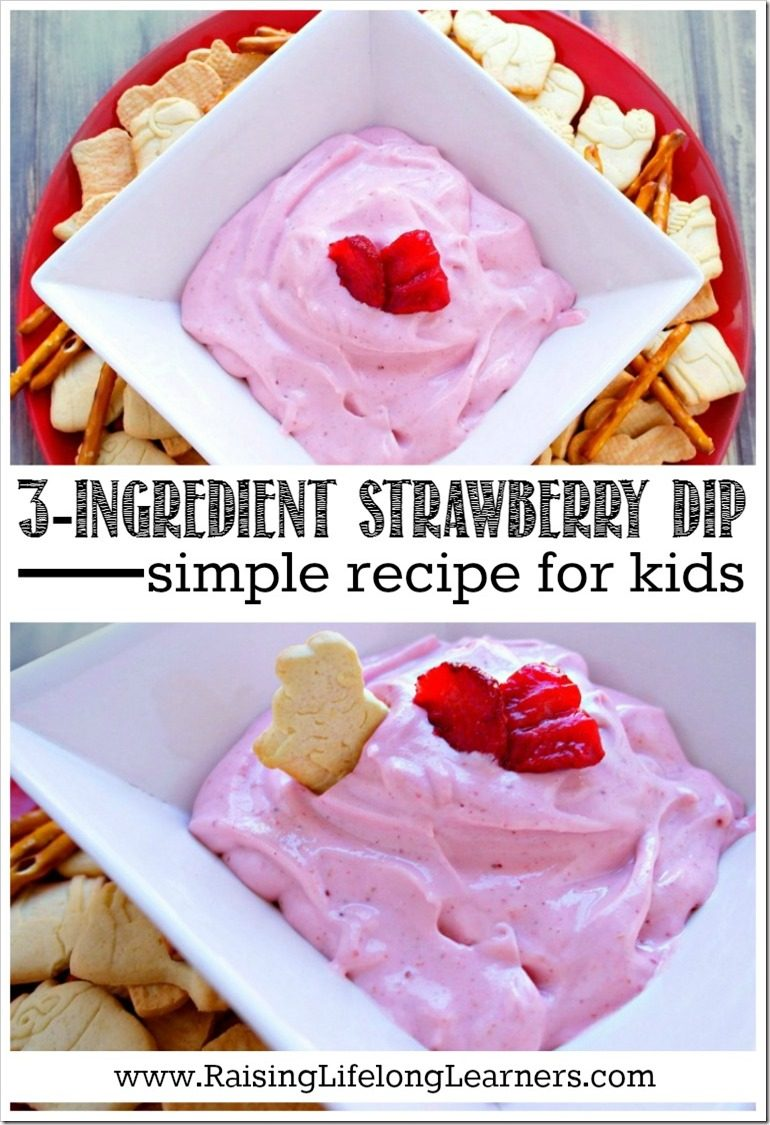 3-Ingredient Strawberry Dip Recipe Kids Will Love!