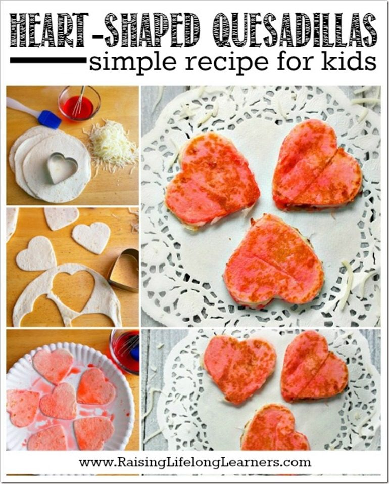 Heart-Shaped Quesadillas - Simple Recipes for Kids