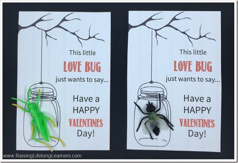 Love Bug Themed Valentines - Free Printable - Non-Candy Valentine's Day Cards
