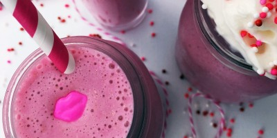 Strawberry White Chocolate Milkshakes | Valentine's Day Recipe