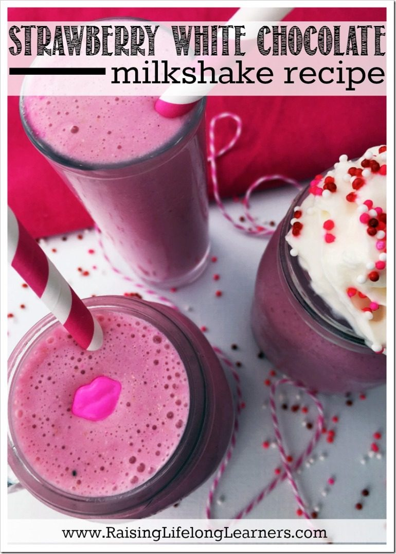 Strawberry White Chocolate Milkshake Recipe