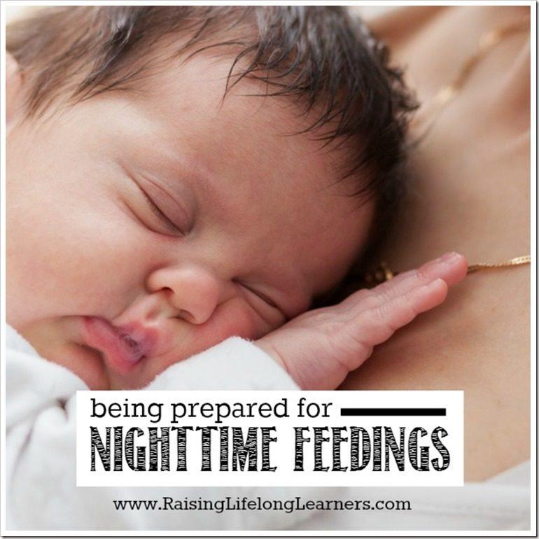 Being Prepared for Nighttime Feedings