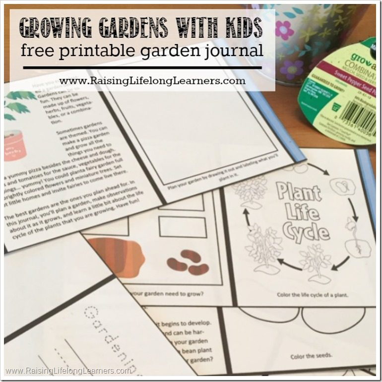 graphic regarding Printable Garden Journal referred to as Developing Gardens with Small children