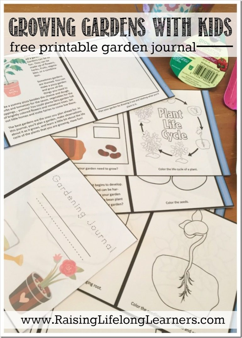 image relating to Printable Garden Journal referred to as Increasing Gardens with Young children