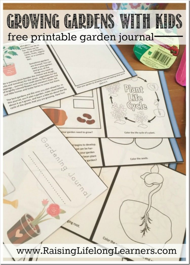 This is a photo of Magic Free Printable Garden Journal