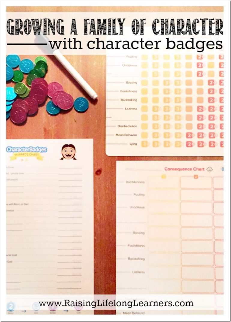 Growing a Family of Character with Character Badges