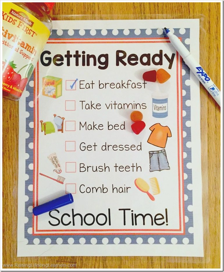 A Healthy Morning Routine with Free Printable