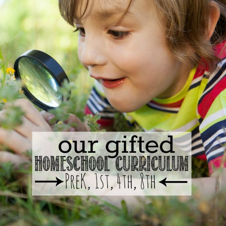 Our Gifted Homeschool Curriculum PreK 1st 4th 8th