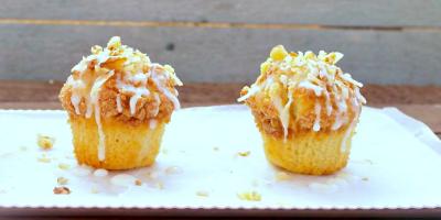 Mini Banana Streusel Muffins